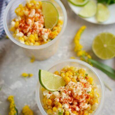 Esquites (Mexican Street Corn Cups) Recipe-How To Make Esquites (Mexican Street Corn Cups)-Delicious Esquites (Mexican Street Corn Cups)