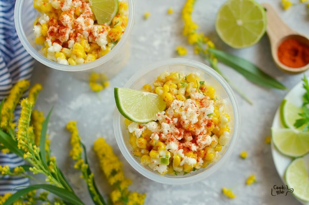 How to serve Esquites (Mexican Street Corn Cups)