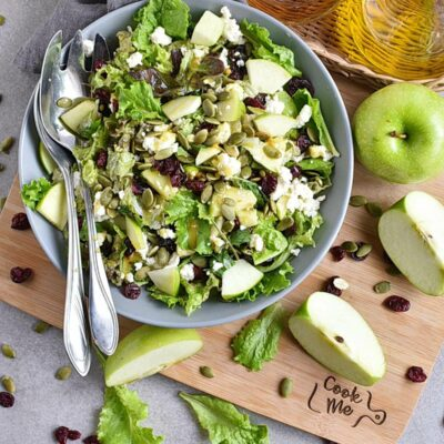 Green Salad with Apples and Pepitas Recipes– Homemade Green Salad with Apples and Pepitas– Easy Green Salad with Apples and Pepitas