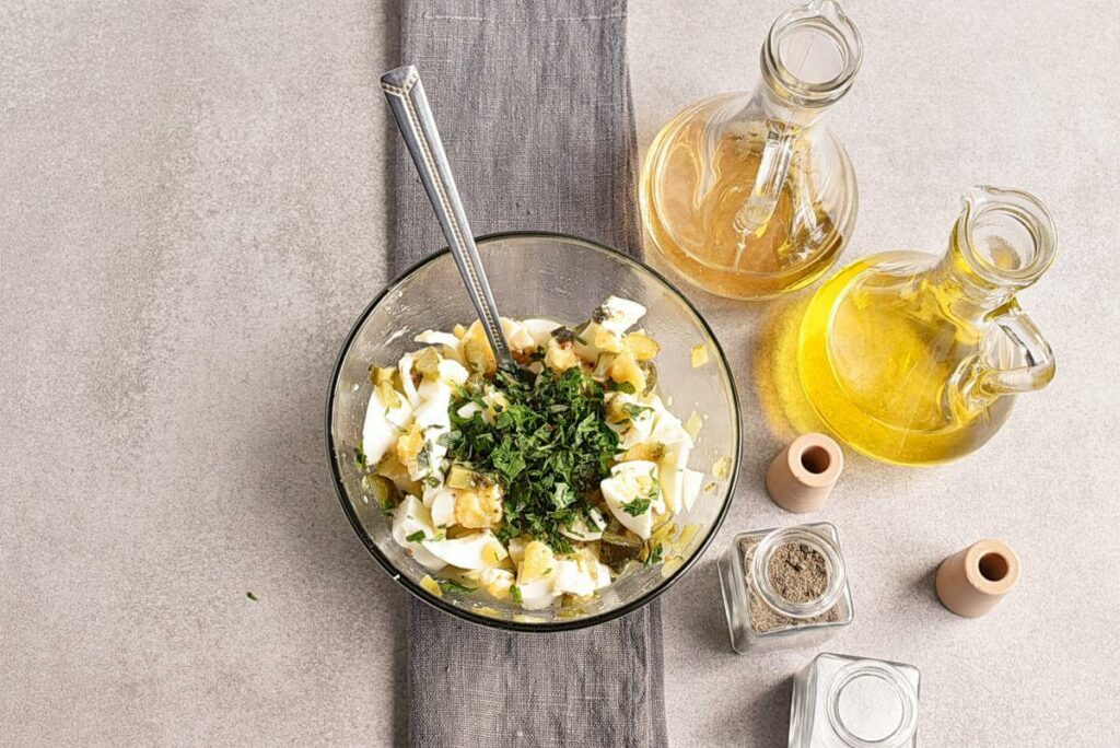 Gribiche (Hard-Boiled Egg) Dressing recipe - step 2