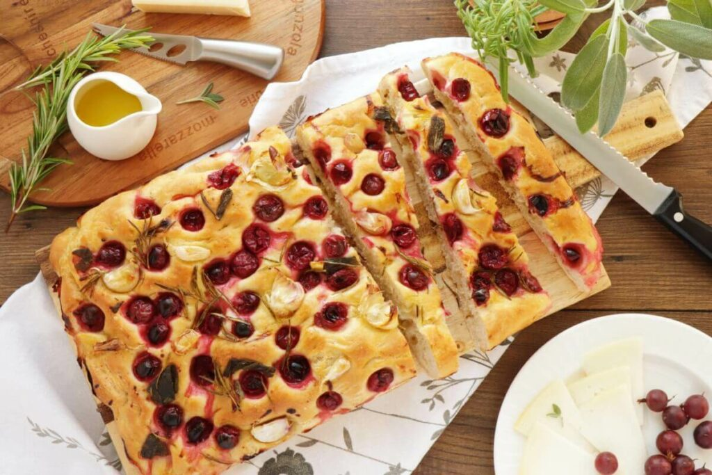 How to serve Herby Gooseberry Focaccia
