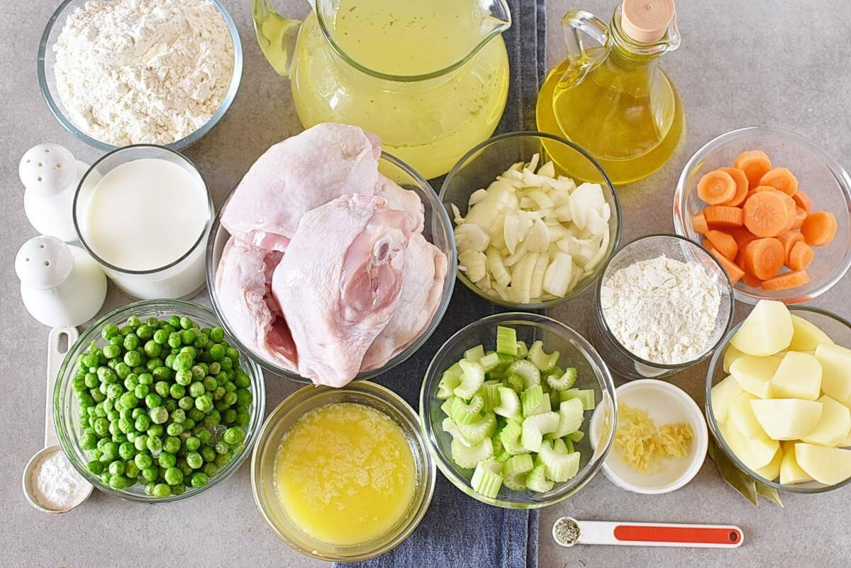 Ingridiens for Instant Pot Chicken and Dumplings