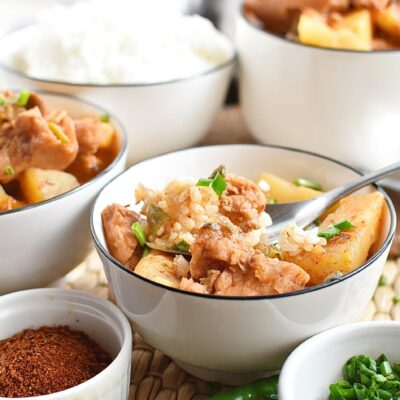 Korean Potato and Spam Stew Recipes– Homemade Korean Potato and Spam Stew– Easy Korean Potato and Spam Stew