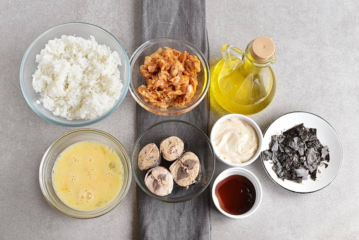 Ingridiens for Korean Tuna Mayo Deopbap