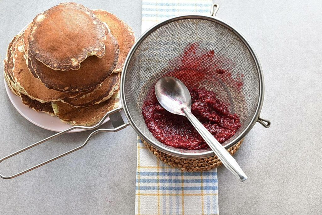Lemon Pancakes with Raspberry Syrup recipe - step 8