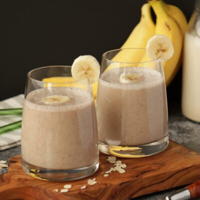 Oat Milk Smoothie Recipe-Vegan Oat Milk Smoothie-Oat Milk Banana Smoothie
