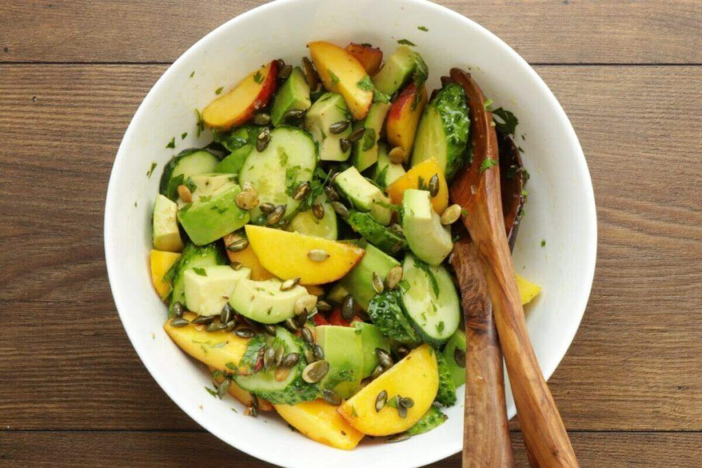 Peach and Cucumber Salad recipe - step 7