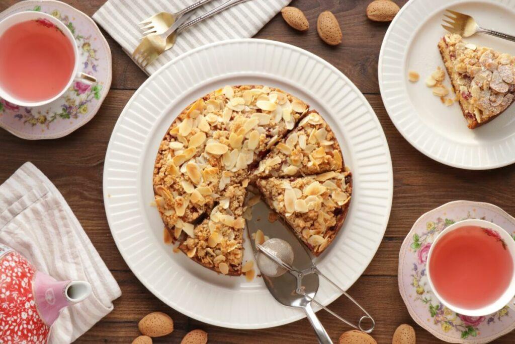 How to serve Raspberry Almond Crumb Cake