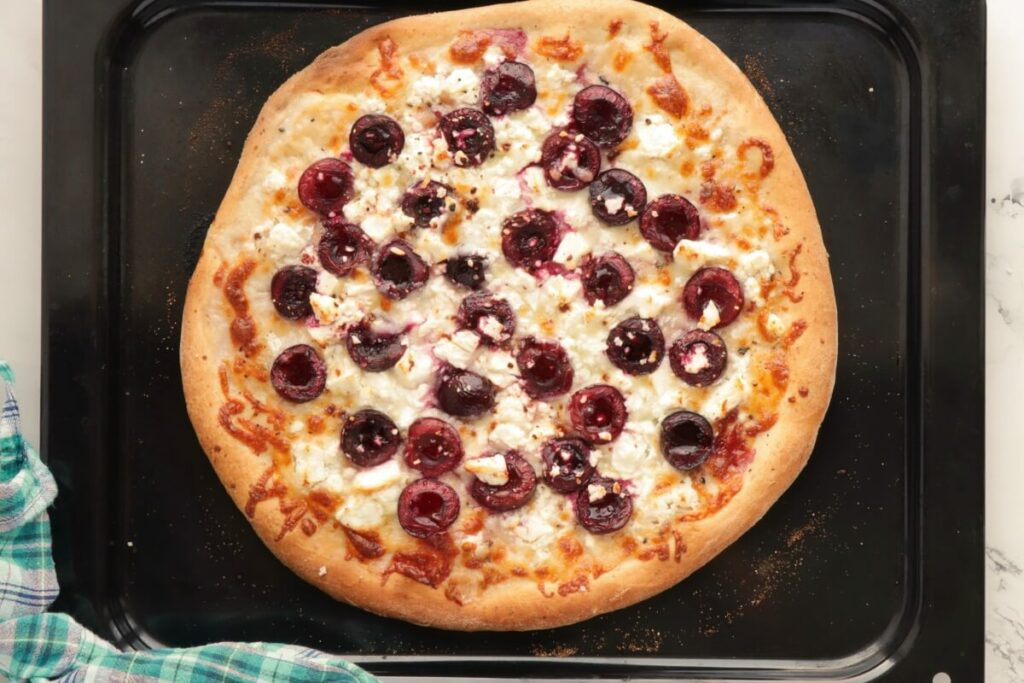 Summer Pizza with Cherries and Feta recipe - step 5