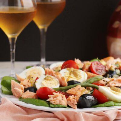 Summer Salmon Niçoise Recipe-Salmon Nicoise-Roasted Salmon Nicoise Salad