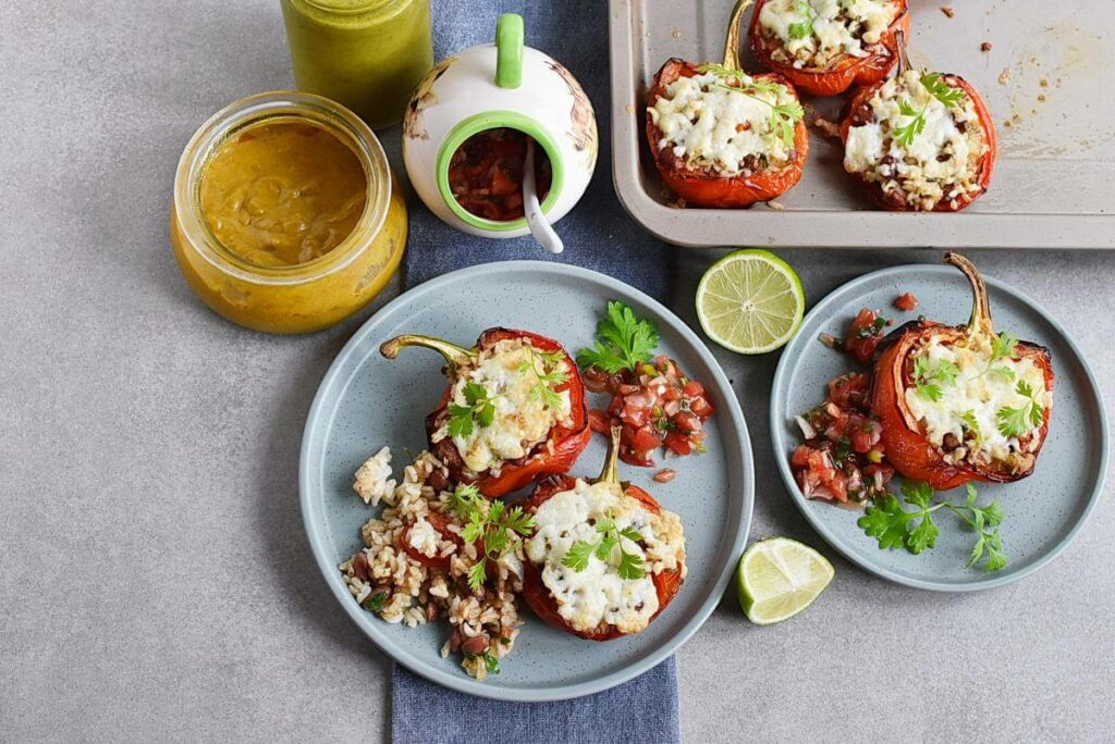 How to serve Vegetarian Stuffed Peppers