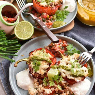 Vegetarian Stuffed Peppers Recipes– Homemade Vegetarian Stuffed Peppers– Easy Vegetarian Stuffed Peppers