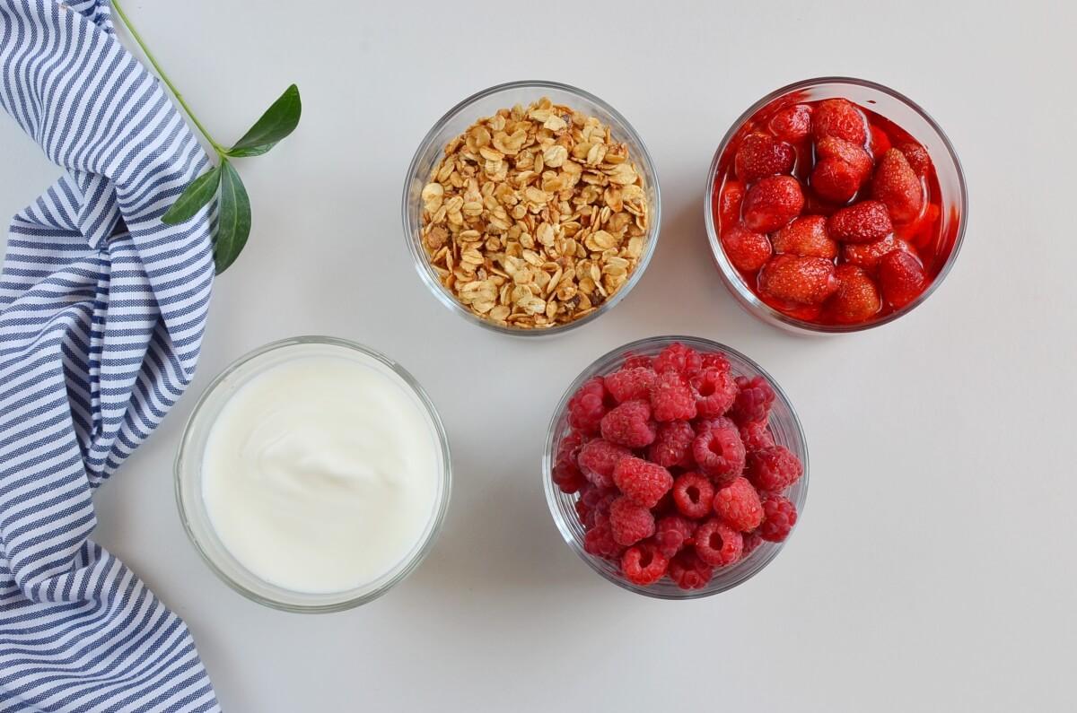 Ingridiens for Yogurt and Fruit Parfaits