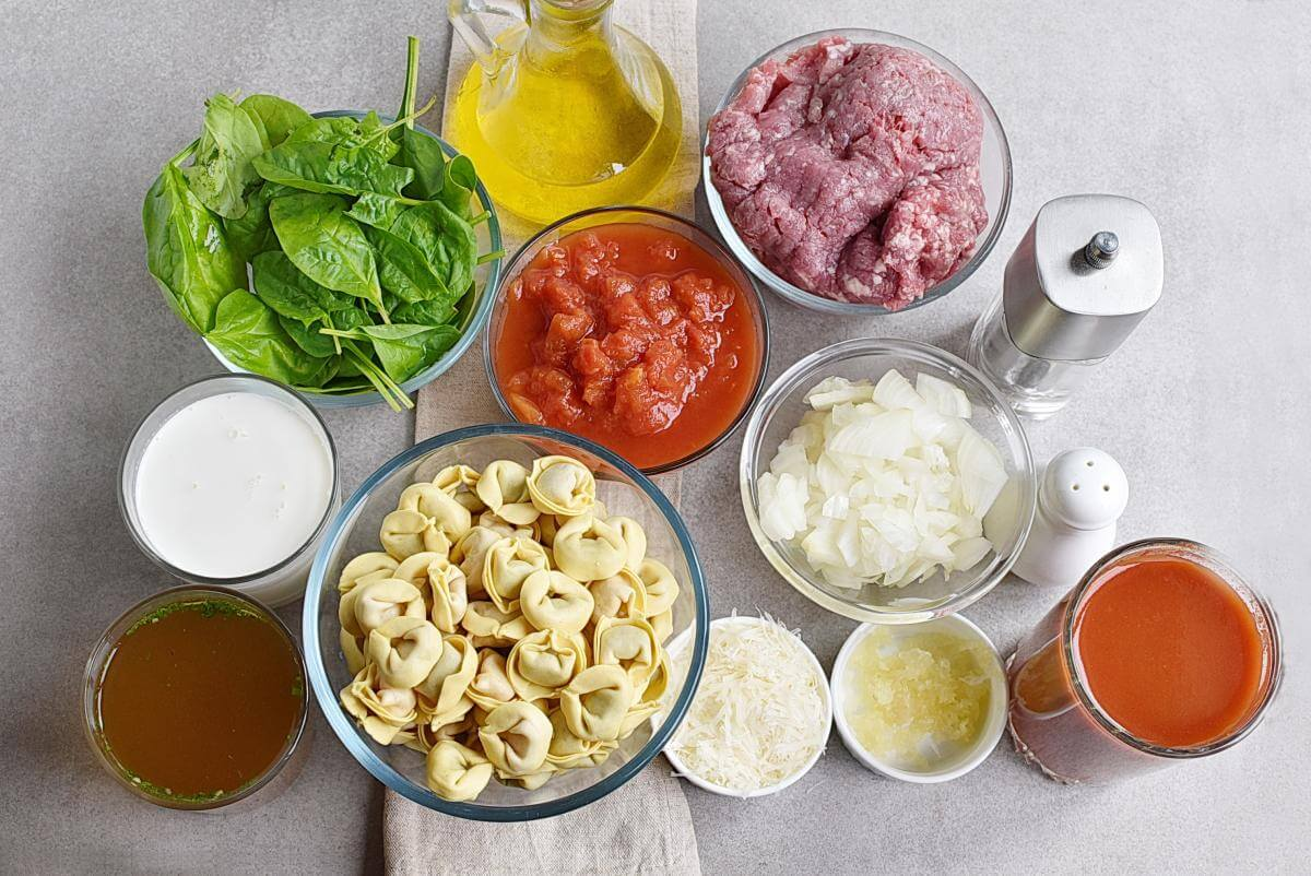 Ingridiens for 20-Minute Tuscan Tortellini with Sausage
