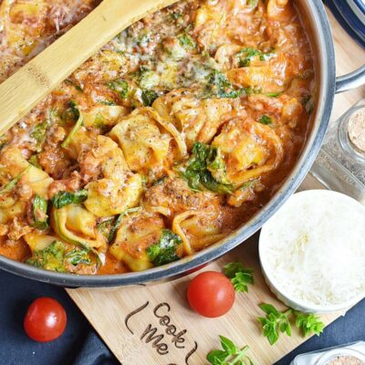 30-Minute Tuscan Tortellini with Sausage Recipes– Homemade 30-Minute Tuscan Tortellini with Sausage– Easy 30-Minute Tuscan Tortellini with Sausage