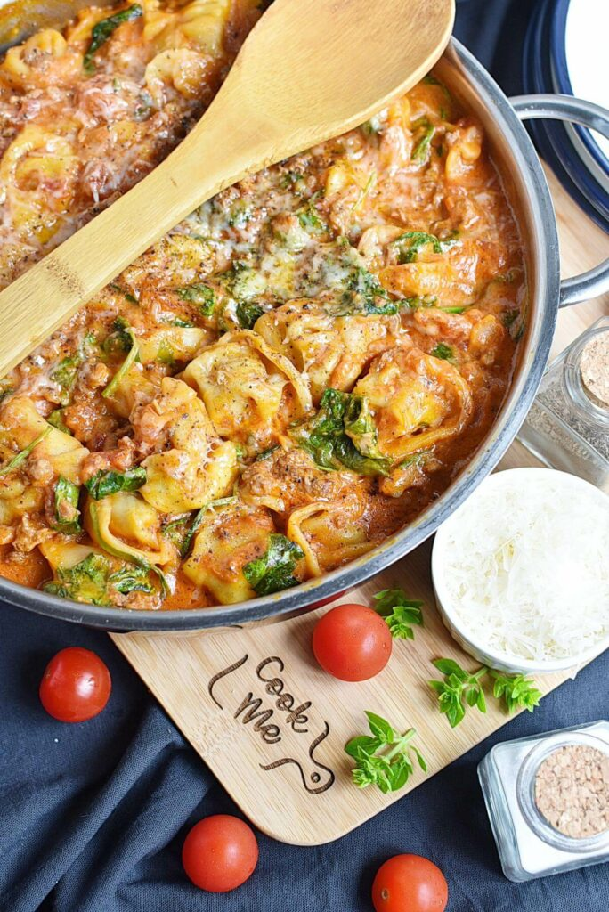 20-Minute Tuscan Tortellini with Sausage