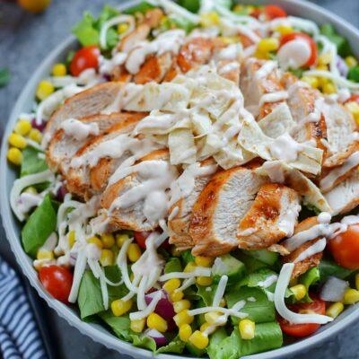BBQ Chicken Salad Recipe-How To Make BBQ Chicken Salad-Delicious BBQ Chicken Salad