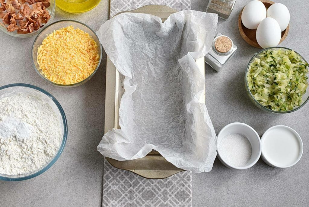 Bacon and Cheddar Zucchini Bread recipe - step 1