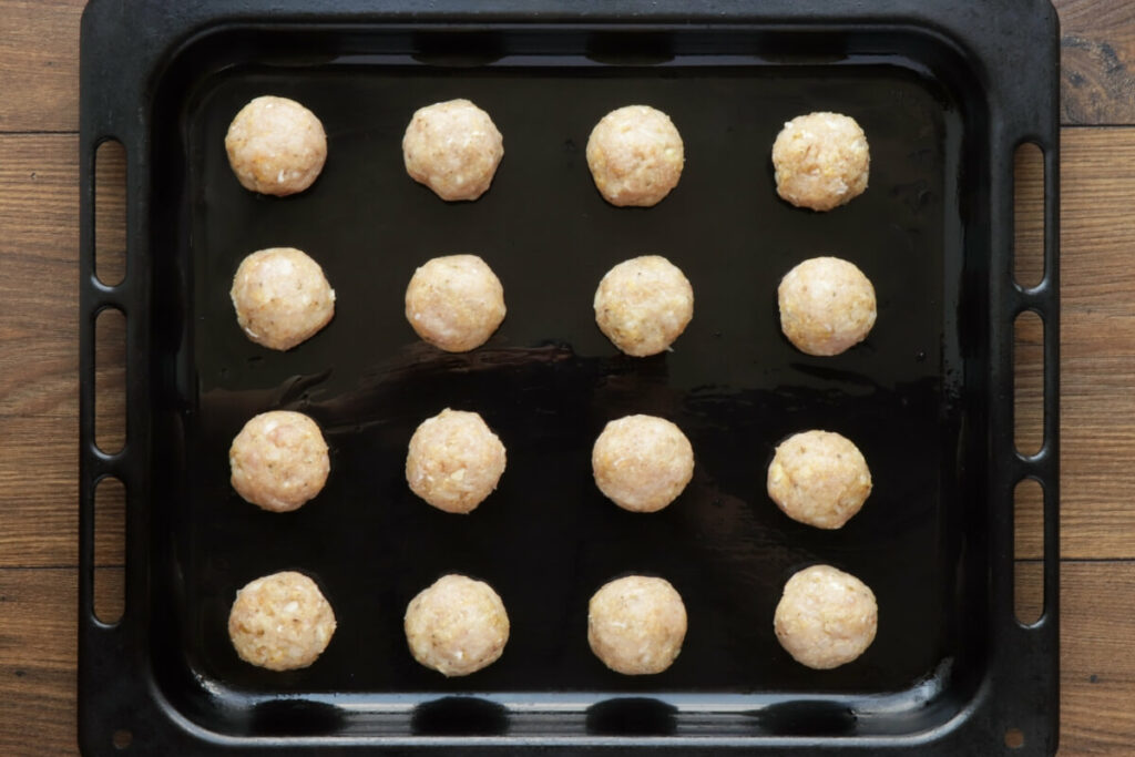 Baked Chicken Meatballs recipe - step 3