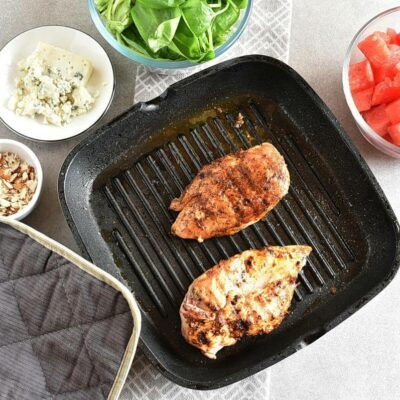 Balsamic Watermelon Chicken Salad recipe - step 4