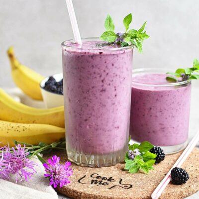 Blackberry-Banana Smoothie Recipes– Homemade Blackberry-Banana Smoothie – Easy Blackberry-Banana Smoothie