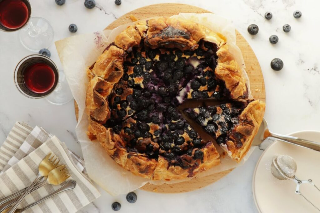 How to serve Blueberry Basque Cheesecake