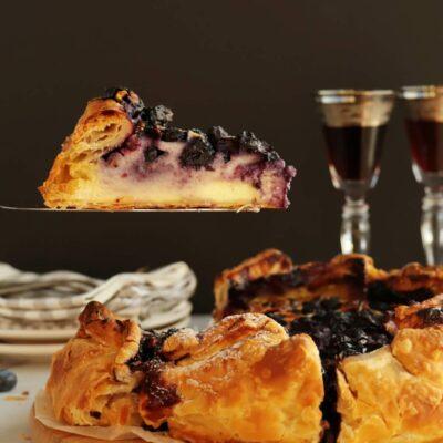 Blueberry Basque Cheesecake Recipe-Basque Cheesecake-Blueberry Burnt Cheesecake