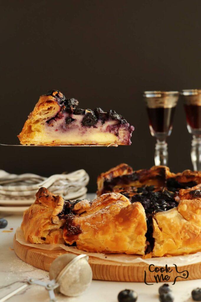 Blueberry Basque Cheesecake