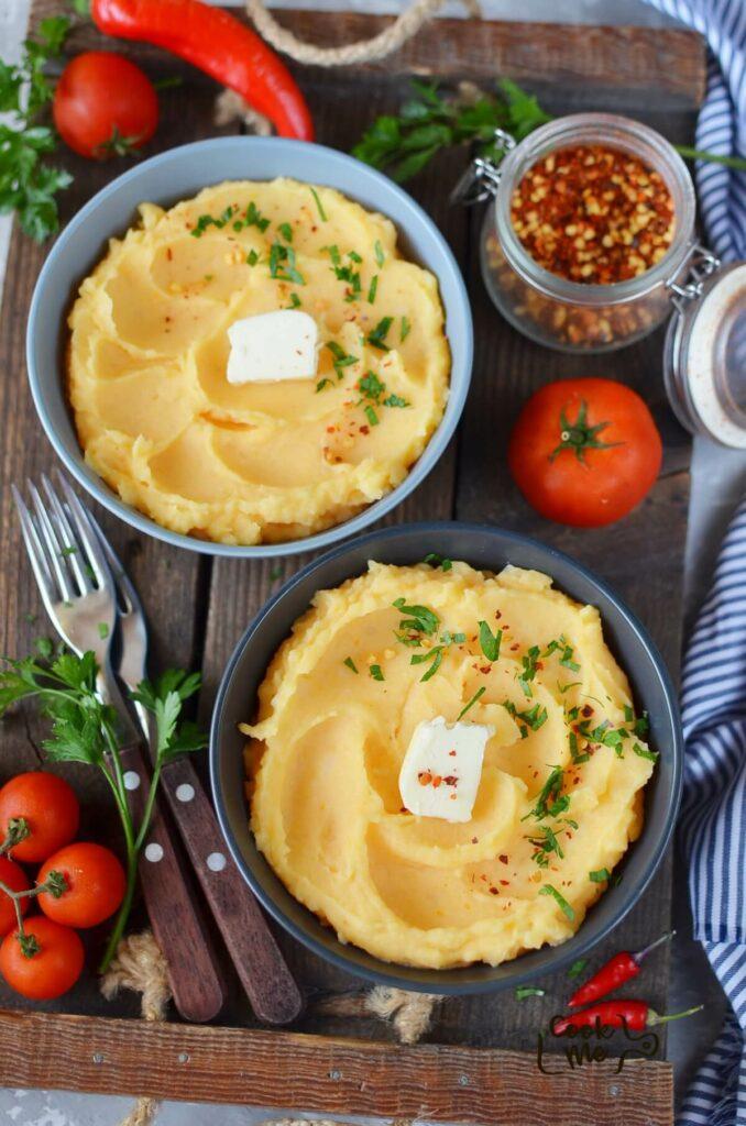 Buttery Pumpkin Mashed Potatoes