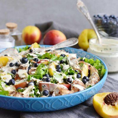 Chicken and Nectarine Poppy Seed Salad Recipes– Homemade Chicken and Nectarine Poppy Seed Salad – Easy Chicken and Nectarine Poppy Seed Salad