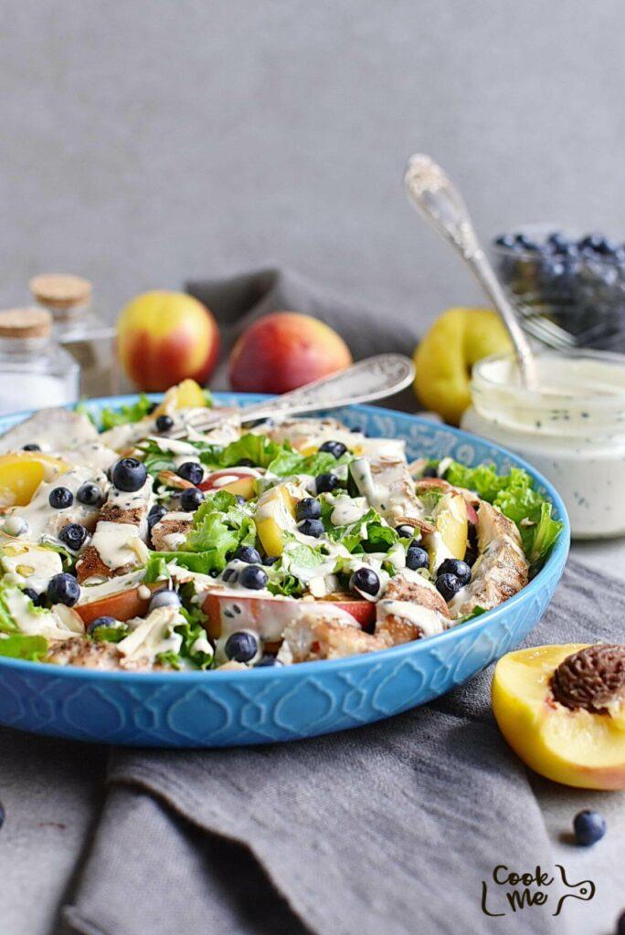 Chicken and Nectarine Poppy Seed Salad
