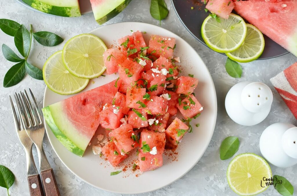 How to serve Chili Lime Watermelon Salad