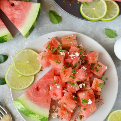 Chili Lime Watermelon Salad Recipe-How To Make Chili Lime Watermelon Salad-Delicious Chili Lime Watermelon Salad