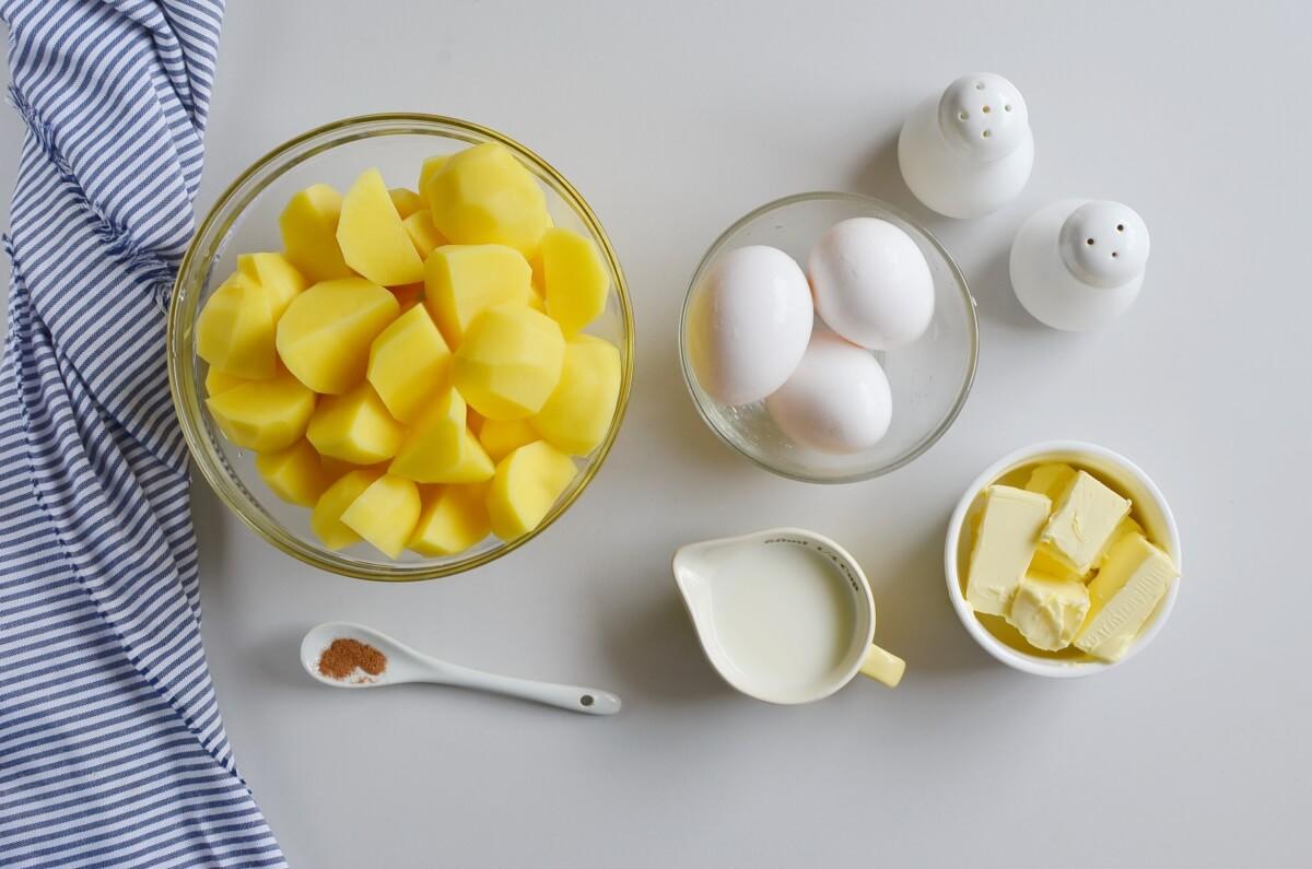 Ingridiens for Duchess Potatoes