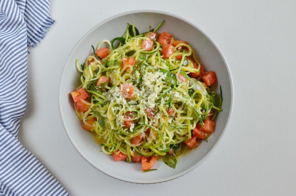 How to serve Guilt-Free Garlic Parmesan Zucchini Noodles
