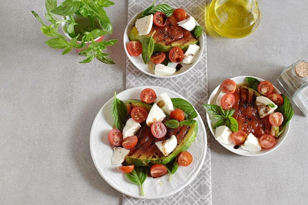 Honey Grilled Watermelon Caprese Salad recipe - step 5