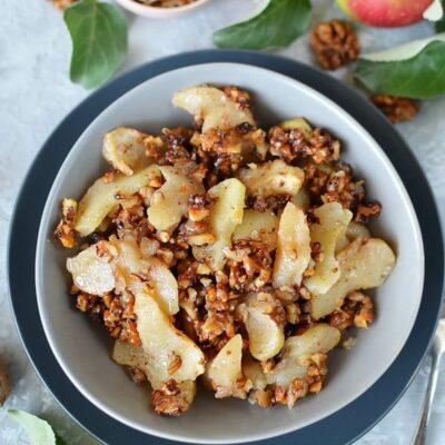 Keto Apple Crisp Recipe-How To Make Keto Apple Crisp-Delicious Keto Apple Crisp