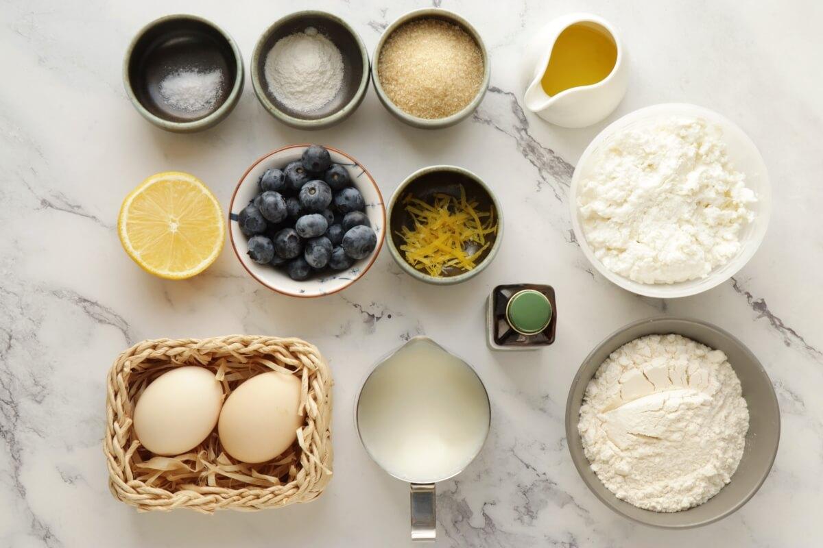 Ingridiens for Lemon Ricotta Pancakes