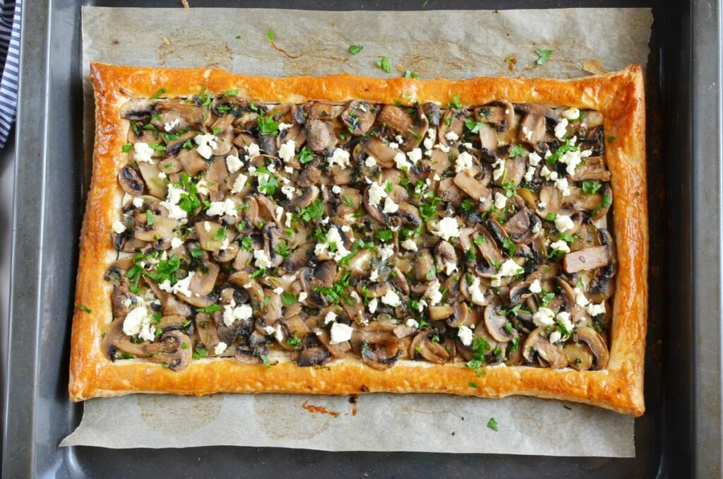 How to serve Mushroom Tart with Puff Pastry