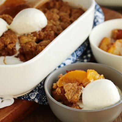 Old Fashioned Peach Cobbler Recipe-Peach Cobbler-Fresh Peaches Cobbler
