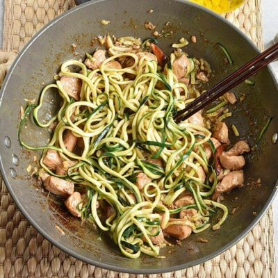 One Pot Kung Pao Chicken Zoodles recipe - step 6