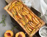 Peach Tart with Thyme Sugar