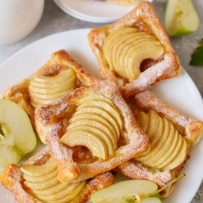 Puff Pastry Apple Tartlets Recipe-How To Make Puff Pastry Apple Tartlets-Delicious Puff Pastry Apple Tartlets