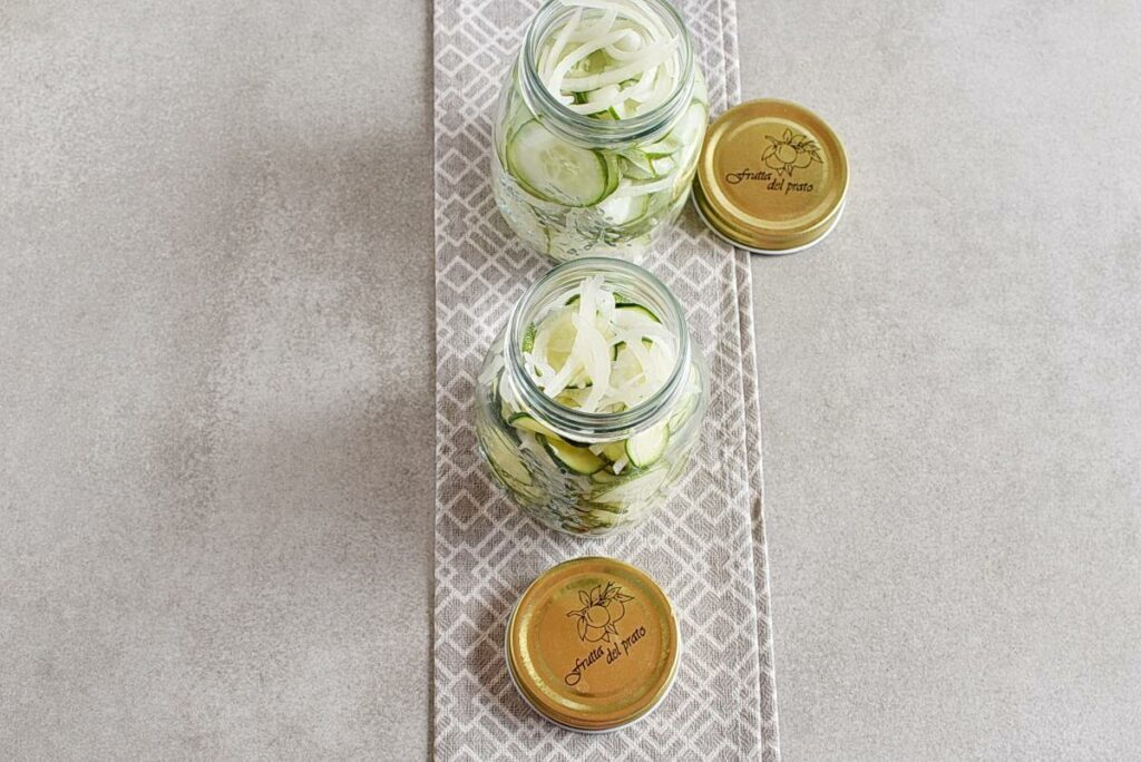 Sweet and Spicy Zucchini Refrigerator Pickles recipe - step 6