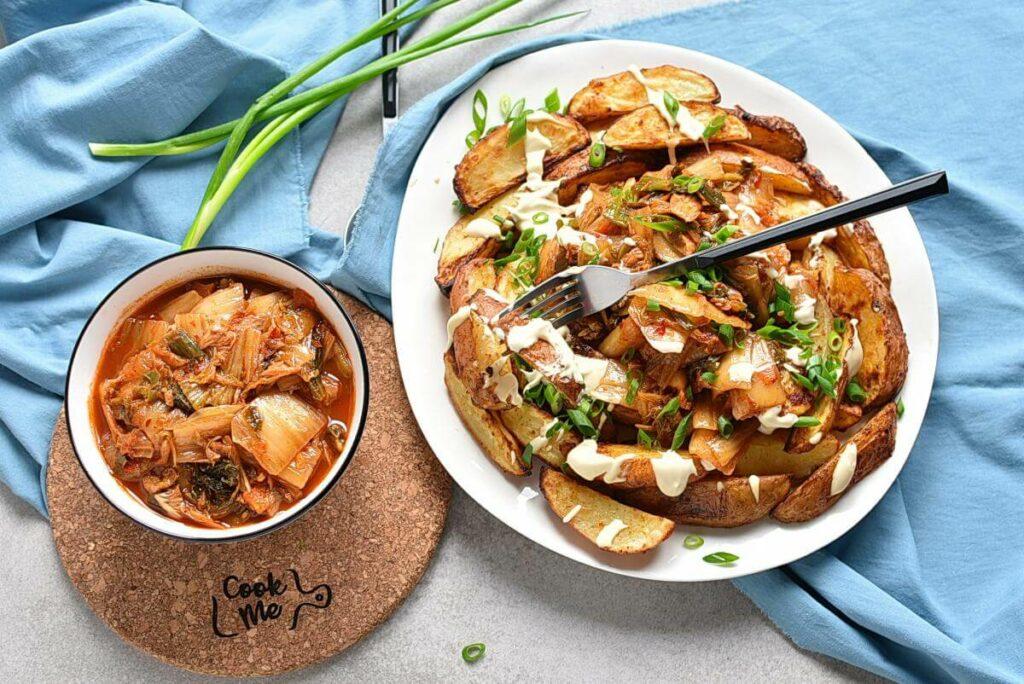 How to serve Vegan Kimchi Fries