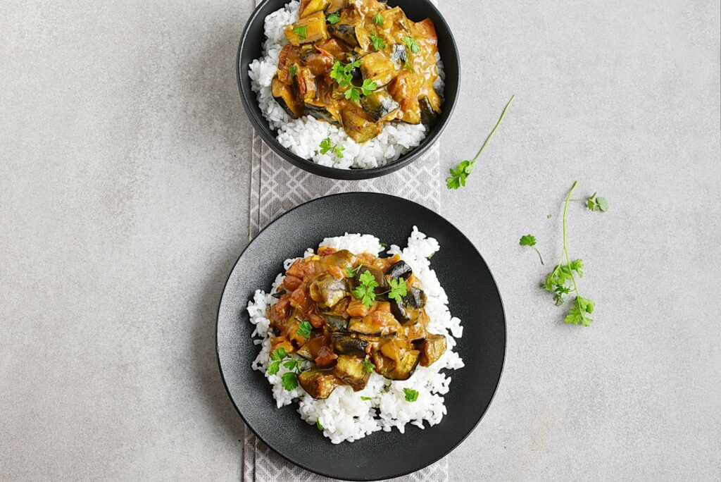 How to serve Vegan Roasted Eggplant Curry