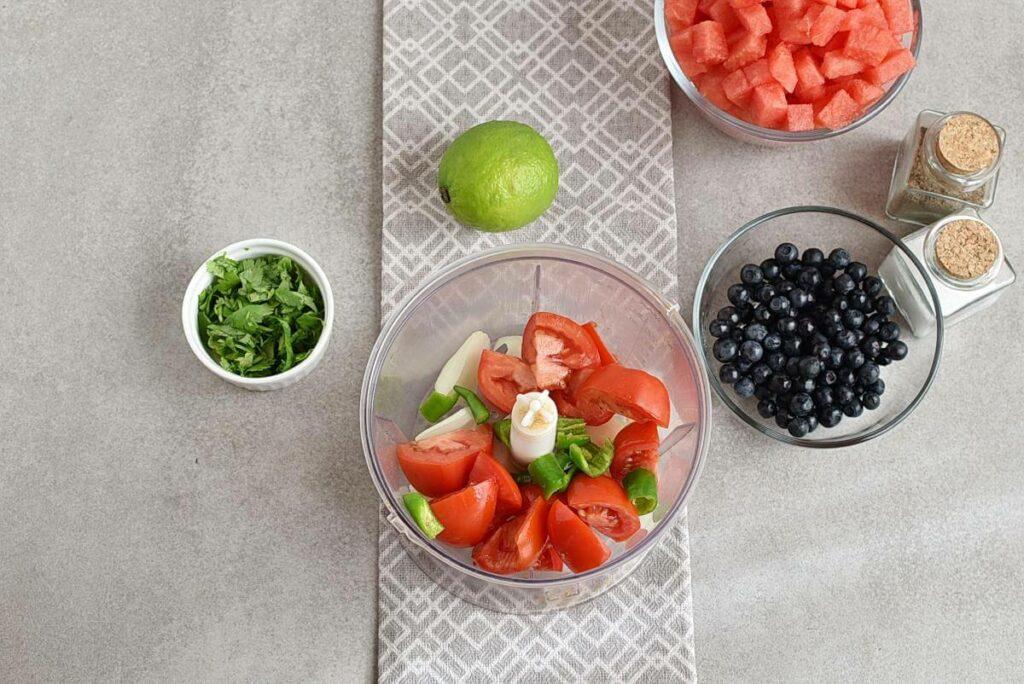 Watermelon Blueberry Salsa recipe - step 1