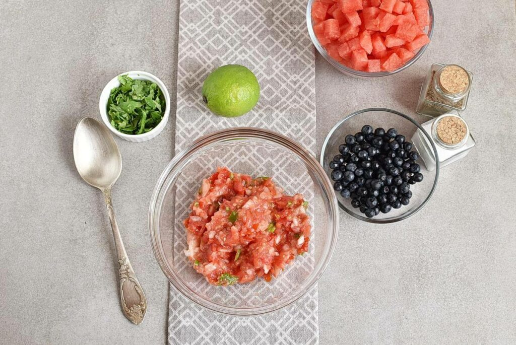 Watermelon Blueberry Salsa recipe - step 2