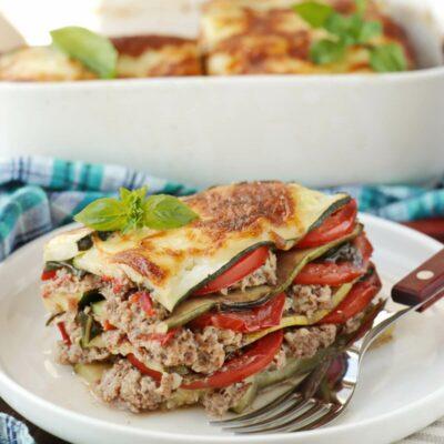 Zucchini Lasagna Recipe-No-Noodle Zucchini Lasagna-Keto Zucchini Lasagna