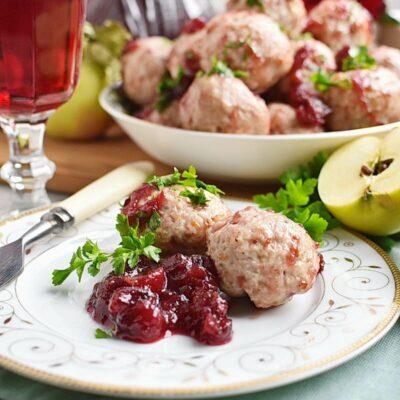Apple Cranberry Turkey Meatballs Recipes– Homemade Apple Cranberry Turkey Meatballs–Easy Apple Cranberry Turkey Meatballs